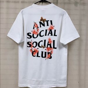 ASSC Antisocial social social club floral tee SZ M